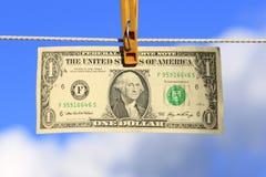 американский доллар одно Стоковые Изображения RF