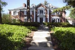 американский дом сада Стоковая Фотография RF