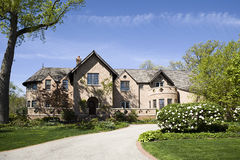 американский дом сада Стоковые Фотографии RF