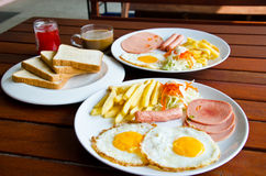 Американский завтрак стоковое фото rf