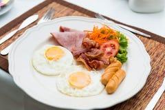 американский завтрак Стоковые Фотографии RF