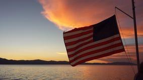 Американский заход солнца Стоковые Фото