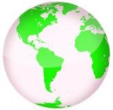 американский зеленый цвет глобуса Стоковая Фотография RF