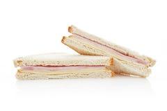 американский изолированный сандвич Стоковые Фото