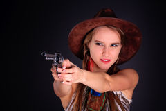 американский инец девушки Стоковые Фотографии RF