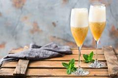 Американский коктеиль fizz с ромом и шампанским Стоковое Изображение RF