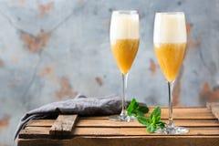 Американский коктеиль fizz с ромом и шампанским Стоковые Изображения RF