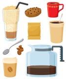 американский комплект кофе иллюстрация вектора