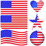Американский комплект ярлыков. Стоковые Фото