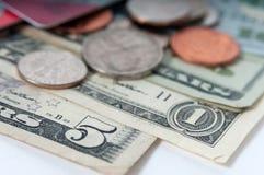 Американский крупный план долларовых банкнот денег стоковая фотография rf
