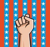 Американский кулачок иллюстрация вектора