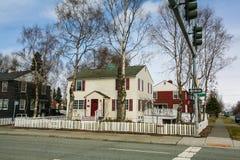 американский классицистический дом Стоковые Изображения RF