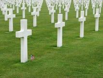 американский мемориал Нормандия кладбища Стоковая Фотография