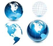 американский мир стороны глобуса Стоковая Фотография