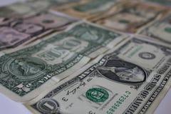 Американский обмен примечаний и монеток доллара Стоковые Изображения RF