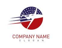 Американский логотип самолета Стоковые Фотографии RF