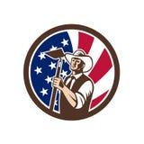 Американский органический значок флага США фермера иллюстрация штока