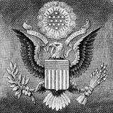 Американский орел на одном долларе США Стоковое Изображение