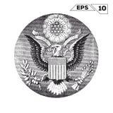 Американский орел на одном долларе США бесплатная иллюстрация