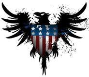 Американский орел grunge иллюстрация вектора