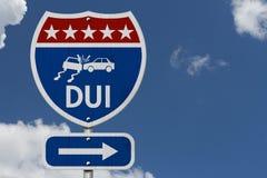 Американский дорожный знак шоссе DUI Стоковые Изображения