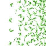 Американский падать примечаний доллара Редкие USD счетов дальше иллюстрация вектора