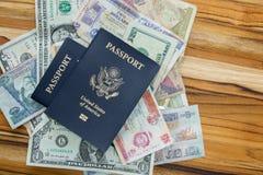 американский пасспорт Стоковые Фотографии RF