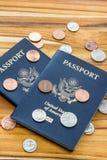 американский пасспорт Стоковое Изображение RF