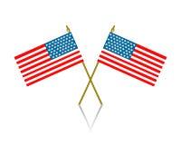 Американский пересеченный флаг Стоковые Изображения RF