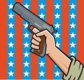 Американский пистолет иллюстрация вектора