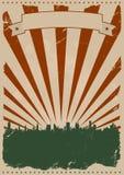 американский плакат grunge Стоковая Фотография