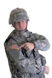американский полевой солдат стоковые изображения rf