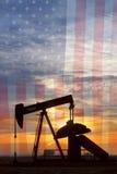 Американский портрет масла Стоковая Фотография