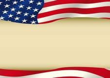 Американский развевая флаг Стоковое Фото