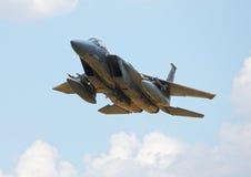 Американский реактивный истребитель F15 стоковое изображение rf