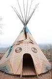 американский родной teepee Стоковая Фотография