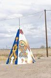 американский родной tipi teepee Стоковое Изображение RF
