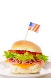 американский салат крена ветчины Стоковые Изображения RF