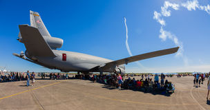 Американский самолет двигателя разбивателя KC-10 Стоковая Фотография RF