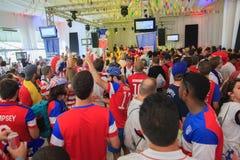 Американский сбор вентиляторов кубка мира перед спичкой Стоковая Фотография RF