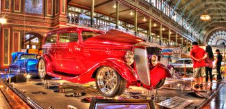 американский сбор винограда gal выставки автомобиля Стоковые Фотографии RF