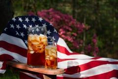 Американский сладостный чай стоковое фото