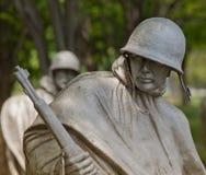 Американский солдат, ветераны Корейской войны мемориальные Стоковое фото RF