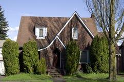 Американский старый дом кирпича Стоковые Изображения