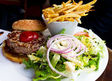 американский сыр бургера Стоковая Фотография RF