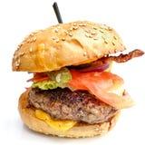 американский сыр бургера Стоковое фото RF
