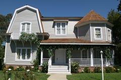 американский тип дома Стоковые Изображения RF