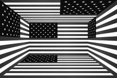 Американский флаг в форме куба бесплатная иллюстрация