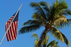 американский флаг Гавайские островы Стоковые Фотографии RF