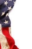 американский флаг граници Стоковая Фотография